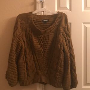 NWT Express cable knit chenille sweater!